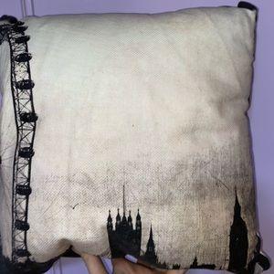 Home Republic• Black and White Eye Cushion• London Map• 43cm x 43cm •